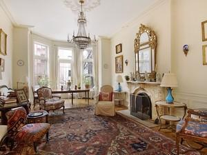 Living room at 281 Henry Street in Brooklyn Heights.