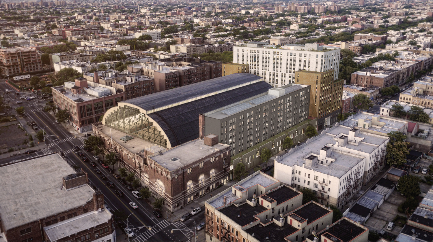 New renderings are out for Bedford Union Armory's redevelopment in Brooklyn @new…