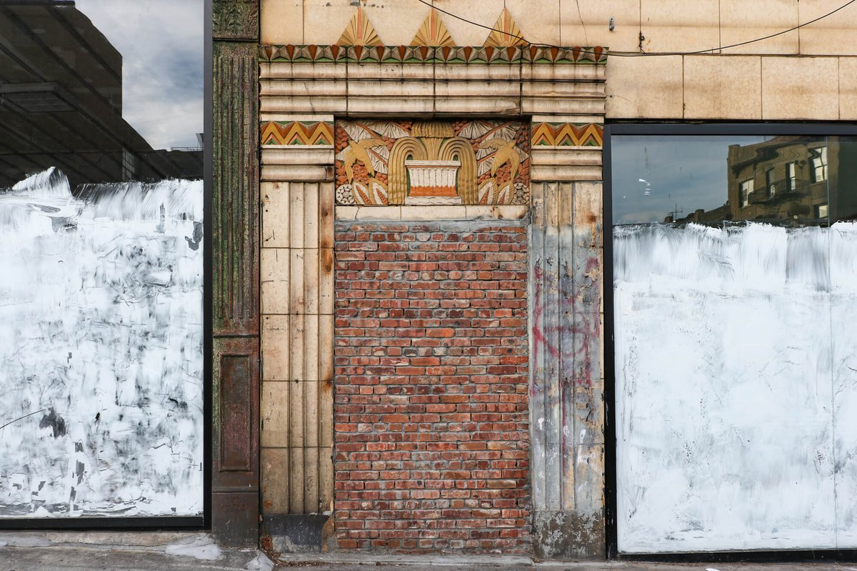 Look Out for This Eye-Catching Terra-Cotta Art Deco Doorway in Bed Stuy  …