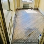 Townhouse Therapy | Putnam Project During: Linoleum Removal